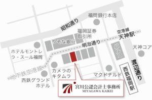 福岡天神の地図